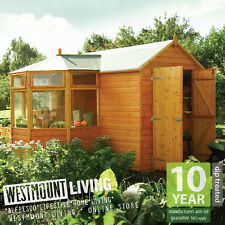 NEW WOODEN CORNER POTTING SHED ALLOTMENT GREENHOUSE STORE