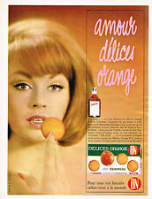 PUBLICITE ADVERTISING 104  1963  BN biscuits DELICES ORANGE au cointreau