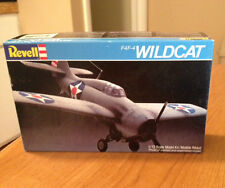 Vintage 1982 Revell F4F-4 Wildcat 1:72 Scale Model Airplane Kit