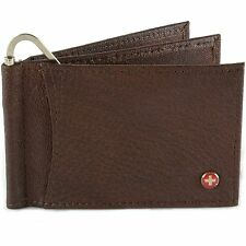 Alpine Swiss Men's Deluxe Money Clip Spring Loaded Leather Front Pocket Wallet