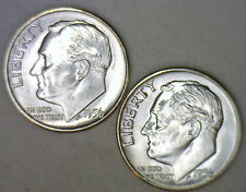1956 1956 D Silver UNC BU Roosevelt Dime Ten Cent Coins from Nice 10c Roll #R