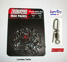 45 x Tronixpro Rolling Swivel With Clip, Size 6 Cascade Swivels, Rig Components