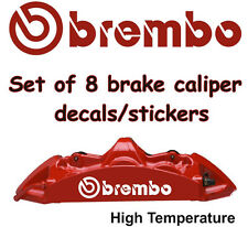 BREMBO Brake Caliper Rear Front  Decals Stickers Vinyl Graphics HIGH TEMPERATURE