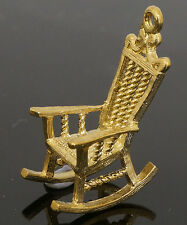 9Carat Yellow Gold Vintage Rocking Chair Charm (Approx 22x13mm)