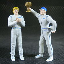 2 PCS 1:18 Scale FIAT Car Motor Racing Driver Figure With Champion Cup no box