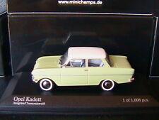 OPEL KADETT A 1962 GREEN WHITE MINICHAMPS 430 043009 1/43 CHAMONIX WEISS GRUN