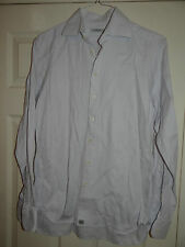 BURBERRY -LONDON DESIGNER LILAC HERRINGBONE WORK/DRESS SHIRT UK 15.5 EU 39