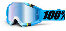 100% MASCHERINA OCCHIALE ACCURI BLUE CRYSTAL BIANCO BLU MOTO CROSS ENDURO GOGGLE