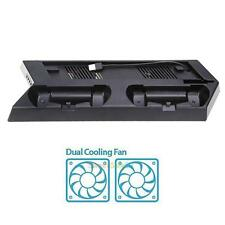 USB Dual Cooling Fan Cooler Charging Dock Station Vertical Stand For PS4 SLIM