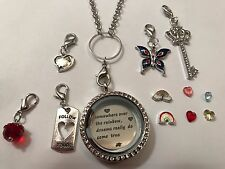 Living Floating Memory Circle Locket Follow The Rainbow Origami Owl Style 35mm