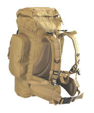 Coyote Tan Large 45L Rio Grande Hiking Tactical Military Style Backpack 24x18x8