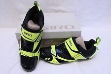 New Men's Giro Mele Tri Black Cycling Shoes SPD-SL EU 45.5 11.5 EC70 Carbon $200