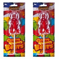 2 x Giant Strawberry Gummy Bear 227g  Super Awesome Gift Idea.
