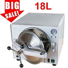 2017 Dental Lab Autoclave Steam Sterilizer Medical 304 Stainless Steel 18L 900W