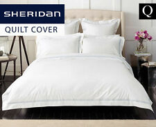Sheridan Palais Queen Tailored Quilt Cover - Barely Blue