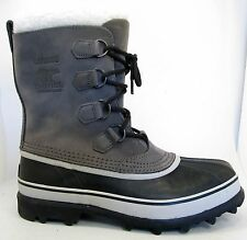 NEW Sorel Caribou Womens Insulated -40° Waterproof Winter Pac Boots 10.5 Shale