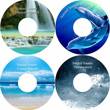 Natural Sounds Whales & Dolphins Coastal Waves ThunderStorm & Waterfall on 4 CDs