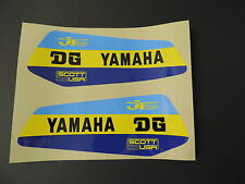 1979  Yamaha YZ 250 400 DG Gas Tank Decal Set. AHRMA VINTAGE MOTOCROSS