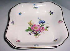 CM HUTSCHENREUTHER CHINA  # 02302 ? OLIVIA  MULTIMOTIF FLOWERS  SQUARE BOWL