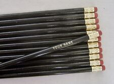 """24 Round """"Black""""  w/Gold lettering"""" Personalized Pencils"""