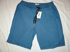 YMC (YOU MUST CREATE) SMART BLUE DRAWSTRING STONEWASHED SHORTS Size S