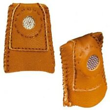 Leather Coin Thimble Finger-Fit Leather Thimble with metal tip,perfect for sewer