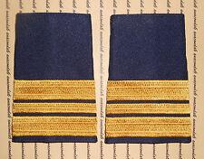 Schulterklappen Rangabzeichen Marine Kapitänleutnant gold blau gewebt ##F929
