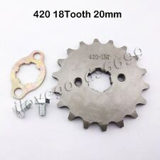 420 18T 20mm ID Front Engine Sprocket For Stomp Thumpstar SDG Pit Dirt Bikes