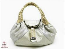 Authentic FENDI Spy Hobo Bag Silver Color 8BR511(SBB0291)