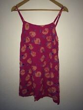 Miss Selfridge Viscose Negligée Size 12 Pink With Rose Print  R7680