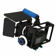 DSLR Camera Cage Rig+Top Handle+Follow Focus+Matte Box For Canon 550D 500D Nikon