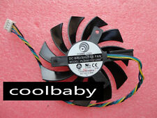 75mm ATI GTX460 GTX560 GTX580 R6870 Fan PLD08010S12HH 2pin 12V 0.35A