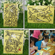 10X Sand Art Picture Child Painting Coloured Sand Kids Painting Drawing Craft