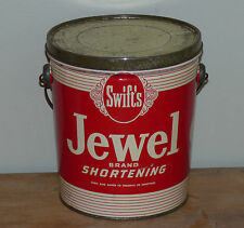 Antique 5lbs Canadian SWIFT'S Bijou Jewel Brand shortening lard tin FREE SHIP!
