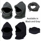 Thermal Fleece Balaclava Winter Ski Outdoor Sports Face Neck Mask Hat Cap Black