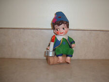 Vintage Christmas Ornament(boy,log,candle,