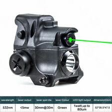 Tactical Green Laser Sight Scope With LED Flash Light Torch Combo 532nm