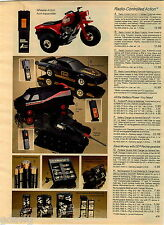 1984 ADVERT Remote Controll RC 3 Wheel Cycle Black Firebird Cannon A Team Van