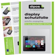 2x Acer Aspire Switch 10 E Pro7 Schutzfolie matt Displayschutzfolie Folie dipos