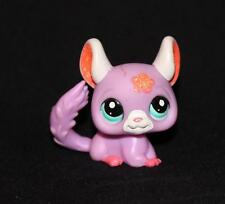 Littlest Pet Shop Pink & Purple CHINCHILLA #2166 Blue Eyes Glitter Hair star