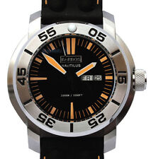 "BARBOS ""Nautilus Orange"" Day-Date Super Luminova Taucher  WRt 1000m/3300ft Neu"