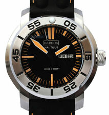 "BARBOS ""Nautilus Orange"" Day-Date Super Luminova Taucher  WRt 1000m/3300ft."