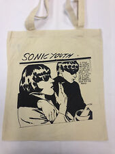 SONIC YOUTH COTTON Tote Bag in Crema ** **