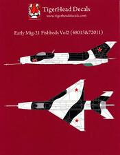 Tigerhead Decals 1/72 MIKOYAN MiG-21 FISHBED Fighter Early Versions