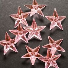 12 Pink Acrylic Stars Table Scatter Vase Filler Wedding Party Decoration