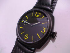 Panhom 45mm PVD Yellowish Mechanical Handwind Parnis 6497 marina militare Watch