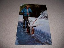 1961 STORM KING SNOW THROWER SNOWBLOWER ADVERTISING POSTCARD
