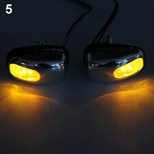 Perfect Auto LED Light Windshield Jet Spray Nozzle Wiper Washer Yellow Lamp