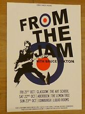 From The Jam with Bruce Foxton - Glasgow/Aberdeen/Edinburgh oct.2016 gig poster
