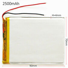 2500mAh Lipo polymer Rechargeable Battery 3.7V For PAD tablet Power bank 407090